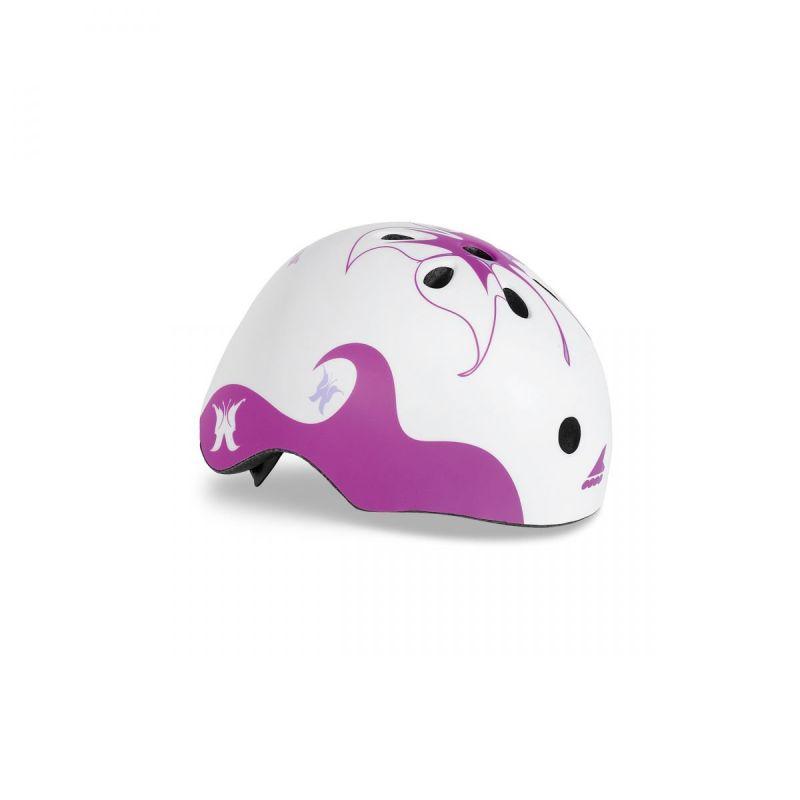 Rollerblade Twist Jr. Helmet weiss-purpurn