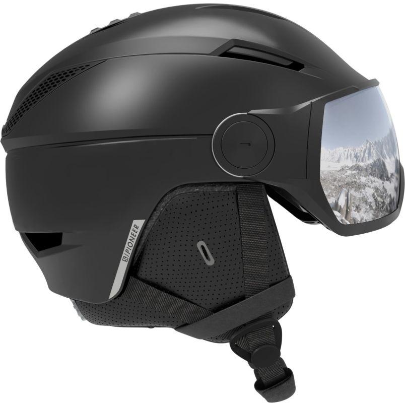Salomon Pioneer visor black-silver