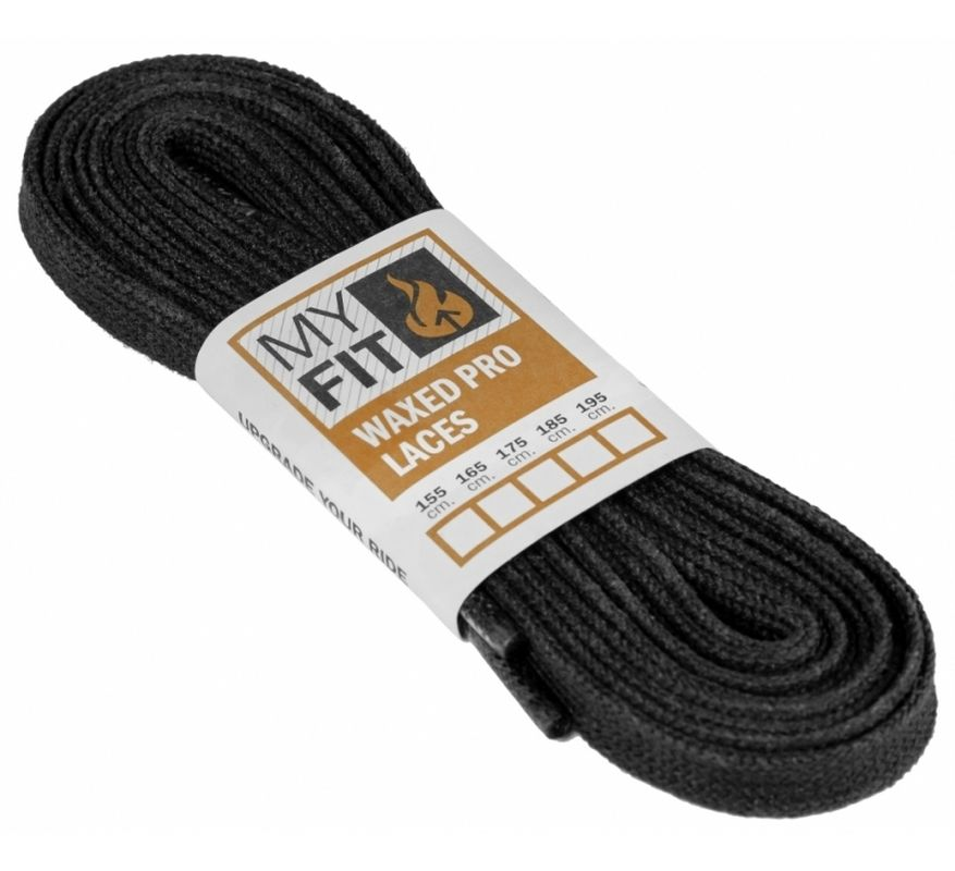 Powerslide My Fit Waxed Laces Pro, black 155cm