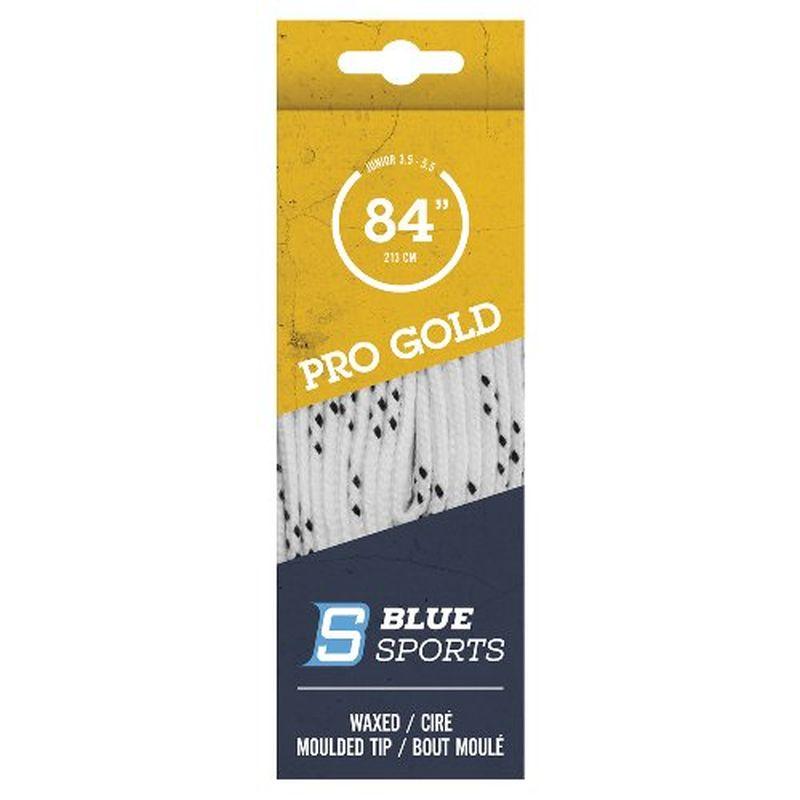 Blue Sports Pro Gold Schnürsenkel gewachst